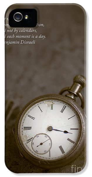 Timepiece iPhone 5 Cases - Old pocket watch iPhone 5 Case by Edward Fielding