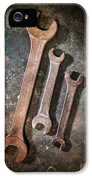 Corroded iPhone 5 Cases - Old Spanners iPhone 5 Case by Carlos Caetano