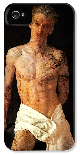 Erotic Male iPhone 5 Cases - Old Story  iPhone 5 Case by Mark Ashkenazi