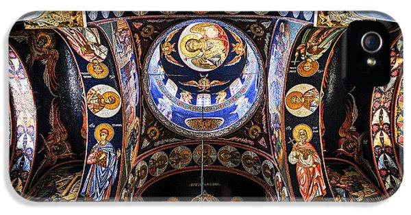 Mosaic iPhone 5 Cases - Orthodox church interior iPhone 5 Case by Elena Elisseeva
