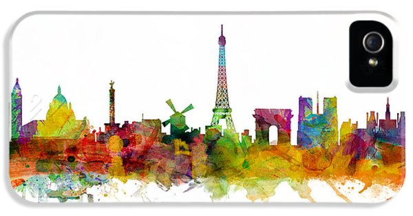 France iPhone 5 Cases - Paris France Skyline iPhone 5 Case by Michael Tompsett