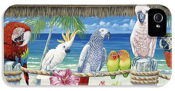 Parrots In Paradise IPhone 5 / 5s Case by Danielle  Perry