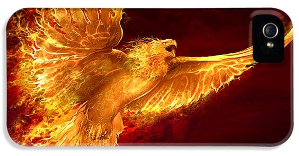 Phoenix iPhone 5 Cases - Phoenix Rising iPhone 5 Case by Tom Wood