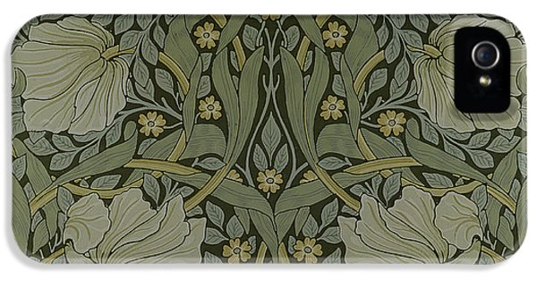 Arts And Crafts Movement iPhone 5 Cases - Pimpernel wallpaper design iPhone 5 Case by William Morris