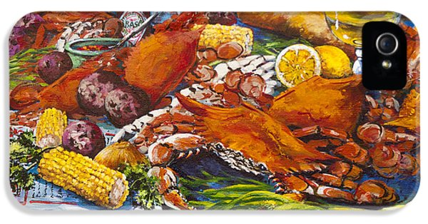 Crab iPhone 5 Cases - Pontchartrain Crabs iPhone 5 Case by Dianne Parks