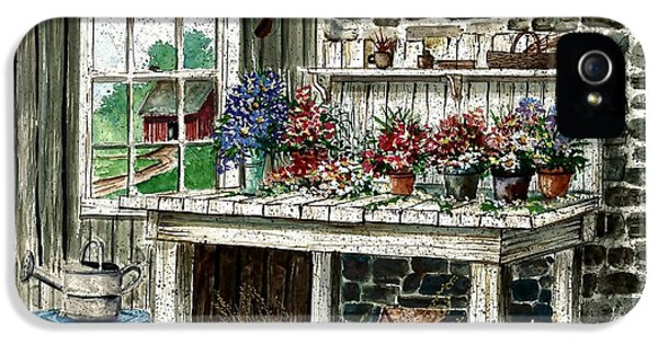 Potting Shed iPhone 5 Cases - Potting Bench iPhone 5 Case by Steven Schultz