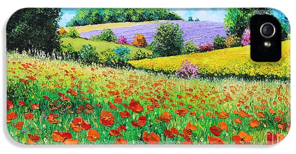 Jeans iPhone 5 Cases - Provencal Flowers iPhone 5 Case by Jean-Marc Janiaczyk