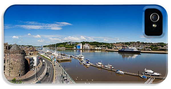 Social History iPhone 5 Cases - Quayside, Reginalds Tower, River Suir iPhone 5 Case by Panoramic Images