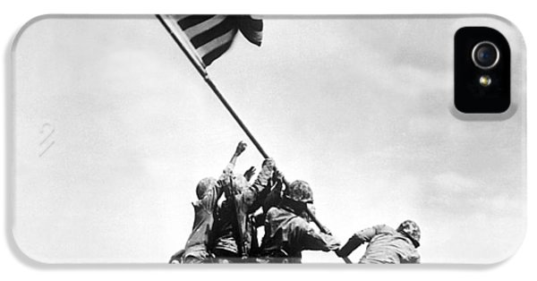American Flag iPhone 5 Cases - Raising The Flag On Iwo Jima iPhone 5 Case by War Is Hell Store