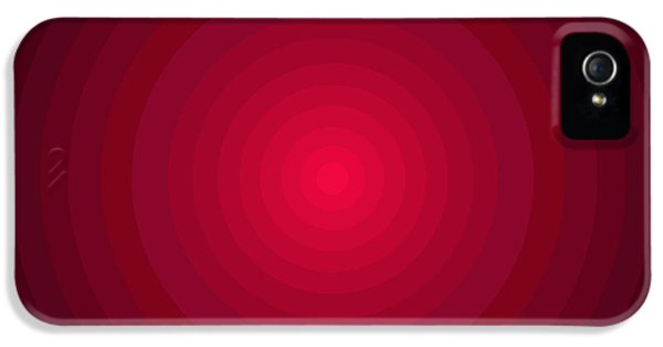 Disc iPhone 5 Cases - Red Circles iPhone 5 Case by Frank Tschakert