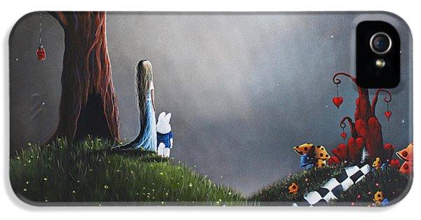 Alice In Wonderland Original Artwork IPhone 5 / 5s Case by Shawna Erback