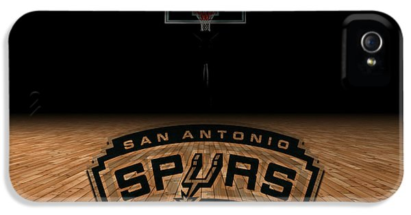 Nba iPhone 5 Cases - San Antonio Spurs iPhone 5 Case by Joe Hamilton