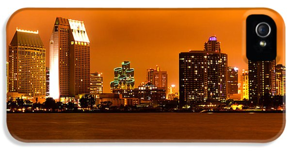 2012 iPhone 5 Cases - San Diego Skyline at Night iPhone 5 Case by Paul Velgos