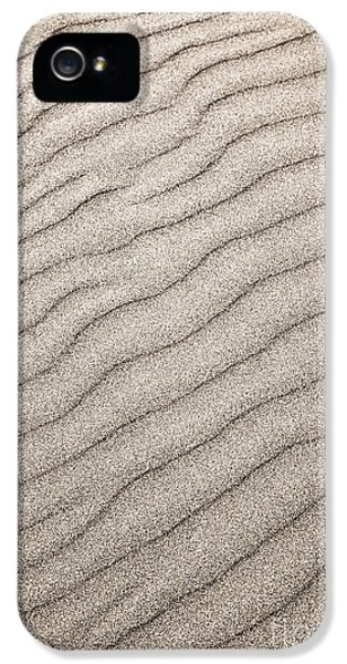 Sand iPhone 5 Cases - Sand ripples abstract iPhone 5 Case by Elena Elisseeva