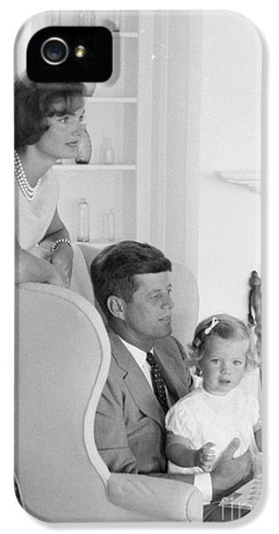 First Lady iPhone 5 Cases - Senator John F. Kennedy with Jacqueline and Caroline iPhone 5 Case by The Phillip Harrington Collection