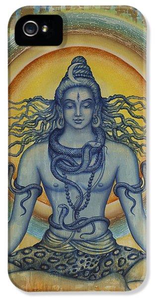 Nirvana iPhone 5 Cases - Shiva iPhone 5 Case by Vrindavan Das