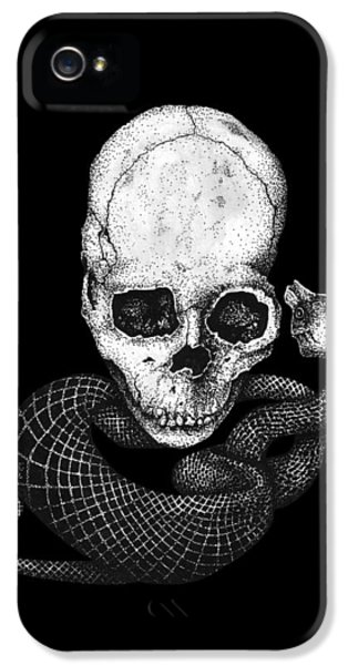 Skull And Snake IPhone 5 / 5s Case by Jakub DK