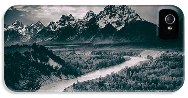 Snake River In The Tetons - 1930s IPhone 5 / 5s Case by Mountain Dreams