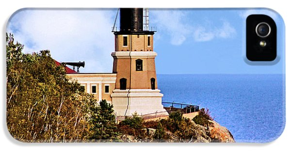 Foghorn iPhone 5 Cases - Split Rock Lighthouse iPhone 5 Case by Kristin Elmquist