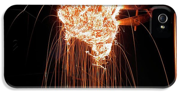Steel Wool Burning In Air IPhone 5 / 5s Case by Science Photo Library