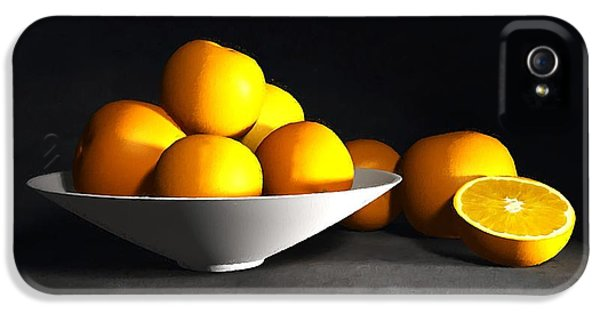 Tangerine iPhone 5 Cases - Still Life with Oranges iPhone 5 Case by Cynthia Decker