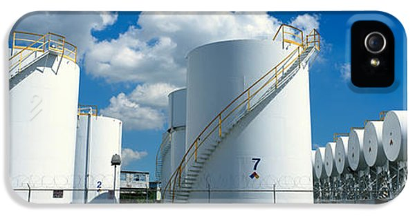 Fuel And Power Generation iPhone 5 Cases - Storage Tanks In A Factory, Miami iPhone 5 Case by Panoramic Images