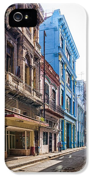 Aged iPhone 5 Cases - Streets of Havana iPhone 5 Case by Erik Brede