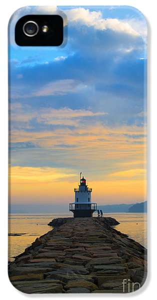 Lighthouse iPhone 5 Cases - Sunrise at Spring Point Lighthouse iPhone 5 Case by Diane Diederich