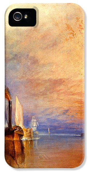 The Fighting Temeraire Tugged To Her Last Berth To Be Broken Up IPhone 5 / 5s Case by J M W Turner