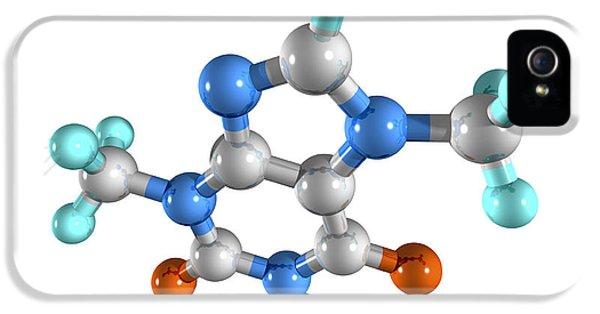 Alkaloid iPhone 5 Cases - Theobromine Drug Molecule iPhone 5 Case by Laguna Design