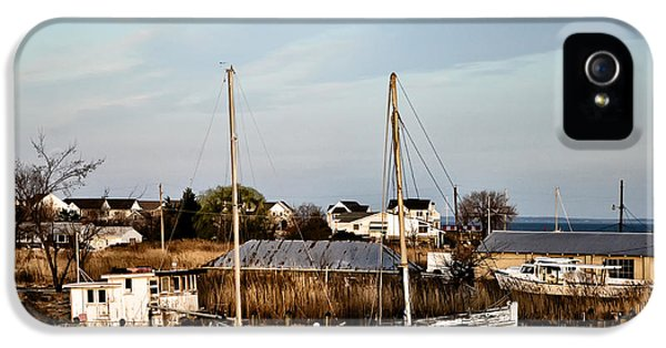 Crabbing iPhone 5 Cases - Tilghman Island Maryland iPhone 5 Case by Bill Cannon