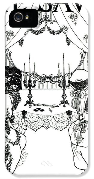 Masquerade iPhone 5 Cases - Title Page from The Savoy iPhone 5 Case by Aubrey Beardsley