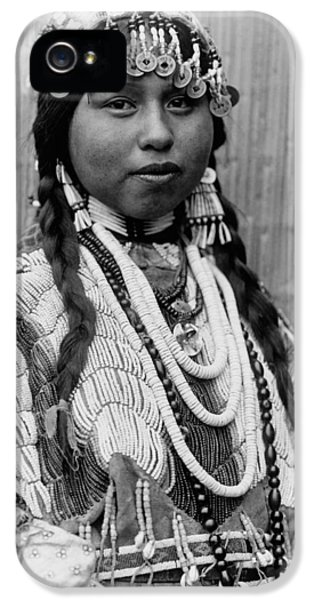 Native American Woman iPhone 5 Cases - Tlakluit Indian woman circa 1910 iPhone 5 Case by Aged Pixel