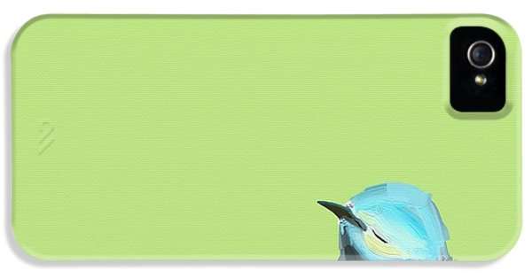 Blue Bird iPhone 5 Cases - Todays Bird iPhone 5 Case by Cathy Walters