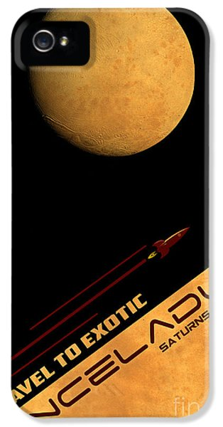 Scifi iPhone 5 Cases - Travel to Enceladus iPhone 5 Case by Cinema Photography