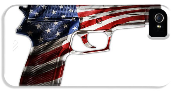 Security iPhone 5 Cases - USA gun  iPhone 5 Case by Les Cunliffe