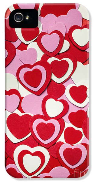 Shapes iPhone 5 Cases - Valentines day hearts iPhone 5 Case by Elena Elisseeva