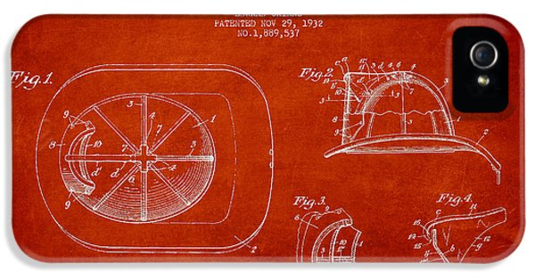 Diagram iPhone 5 Cases - Vintage Firefighter Helmet Patent drawing from 1932 iPhone 5 Case by Aged Pixel