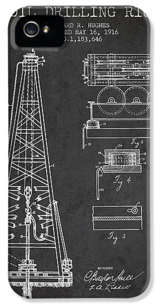 Diagram iPhone 5 Cases - Vintage Oil drilling rig Patent from 1916 iPhone 5 Case by Aged Pixel