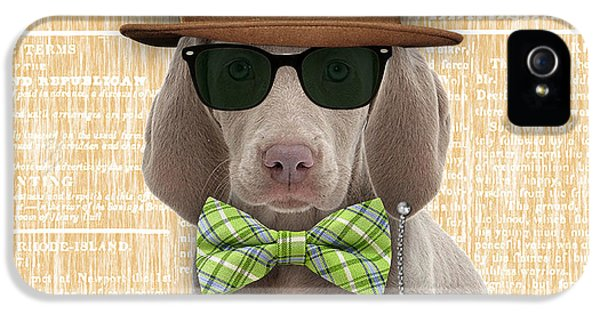 Weimaraner Bowtie Collection IPhone 5 / 5s Case by Marvin Blaine