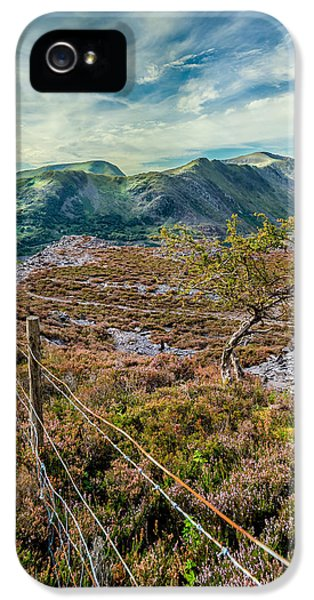 Ladder iPhone 5 Cases - Welsh Mountains iPhone 5 Case by Adrian Evans