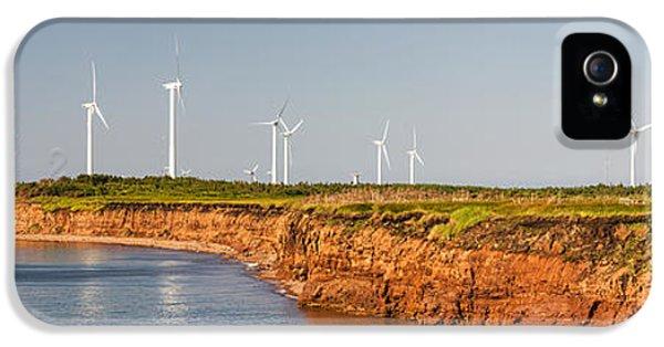 Windmill iPhone 5 Cases - Wind turbines on atlantic coast iPhone 5 Case by Elena Elisseeva