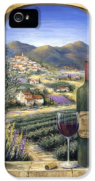 Scenic iPhone 5 Cases - Wine and Lavender iPhone 5 Case by Marilyn Dunlap