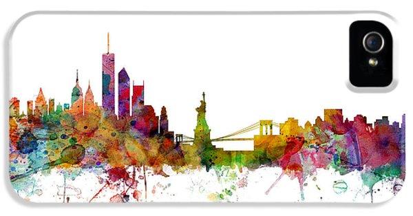 New York Skyline IPhone 5 / 5s Case by Michael Tompsett