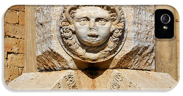 Sculpted Medusa Head At The Forum Of Severus At Leptis Magna In Libya IPhone 5 / 5s Case by Robert Preston