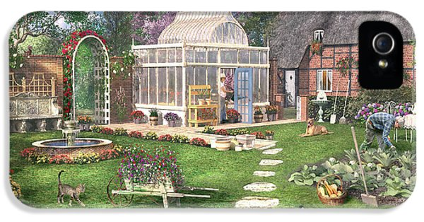 Shed iPhone 5 Cases - The Cottage Garden iPhone 5 Case by Dominic Davison