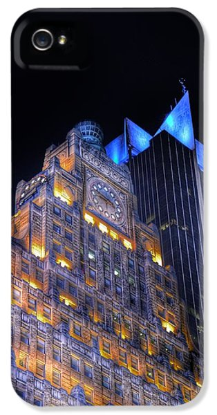 Motion Picture iPhone 5 Cases - 1501 Broadway - Paramount Building - Times Square New York iPhone 5 Case by Marianna Mills