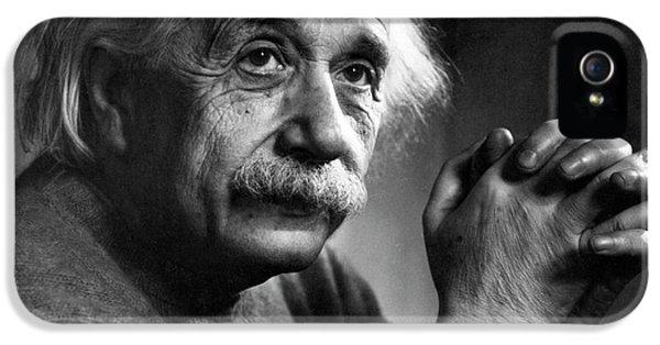 Albert Einstein IPhone 5 / 5s Case by Emilio Segre Visual Archives/american Institute Of Physics
