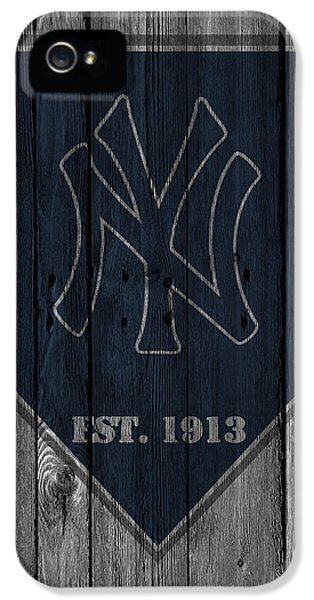 Balls iPhone 5 Cases - New York Yankees iPhone 5 Case by Joe Hamilton