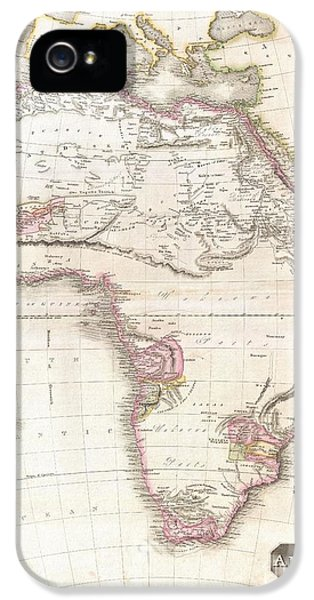 Constituent iPhone 5 Cases - 1818 Pinkerton Map of Africa iPhone 5 Case by Paul Fearn